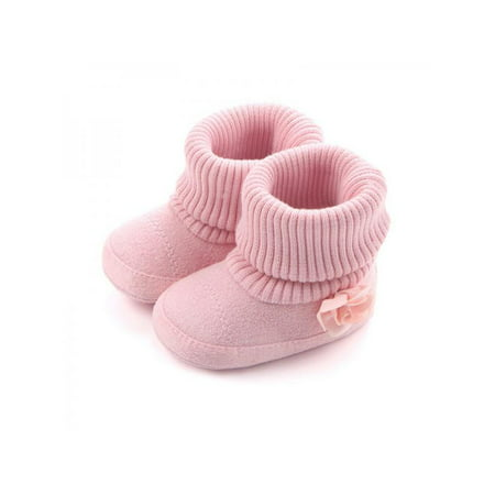 VICOODA Autumn Winter Non-Skid Warm Baby Girl Shoes Toddler Infant Soft Shoes Ankle Booties First Walkers Infant Girl Booties