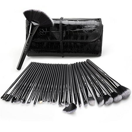 Cosmetics Brushes Kit with Travel Pourch for Professional Makeup 32 Pieces](Halloween Makeup Kits Professional)