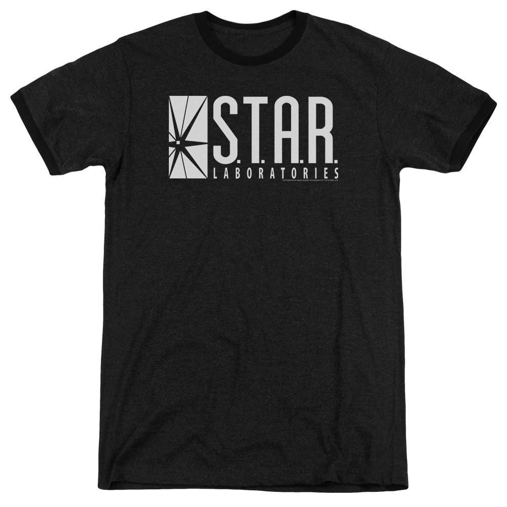 The Flash S.T.A.R. Mens Adult Heather Ringer Shirt