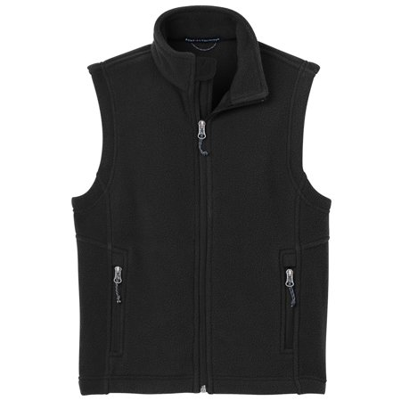 Fleece Baby Fleece Vest - Port Authority Youth Super Soft Fleece Warmth Drawcord Vest