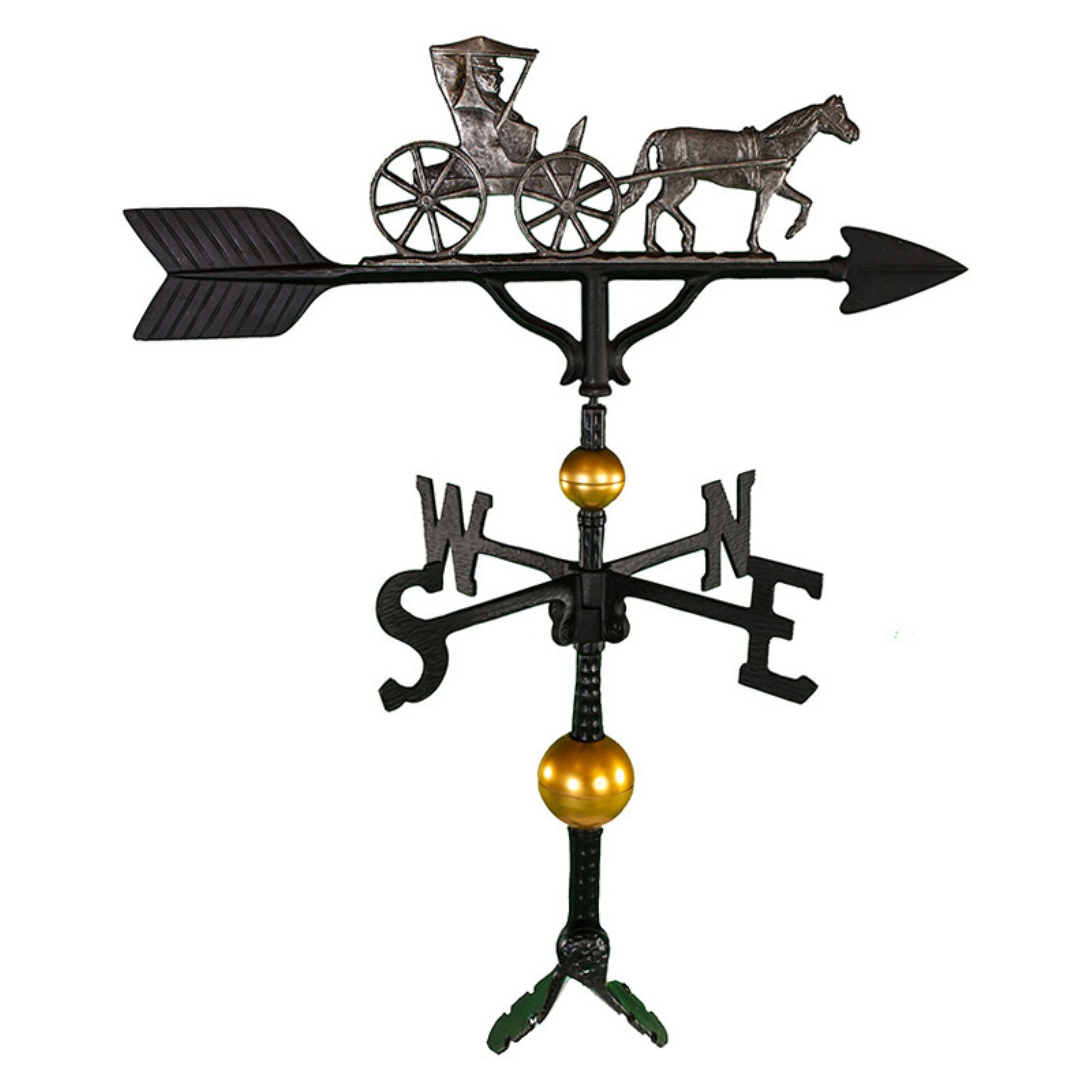 Deluxe Swedish Iron Country Dr. Weathervane 32 in. by Weathervanes
