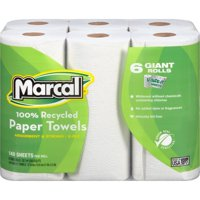 Marcal Paper Towels, U-Size-It, 6 Giant Rolls