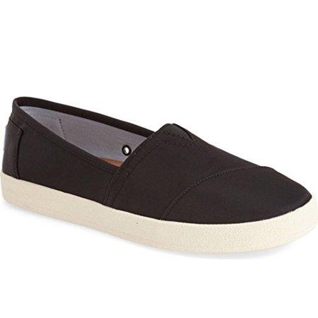 6bd7c5b27d1 TOMS - TOMS 10009302  Avalon Slip On Casual BLACK NYLON Fashion Women NEW  in BOX (black