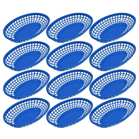 Black Duck Brand Oval Fast Food / Deli Baskets, 9.25 by 6 -Inch (12 Pack - Blue)