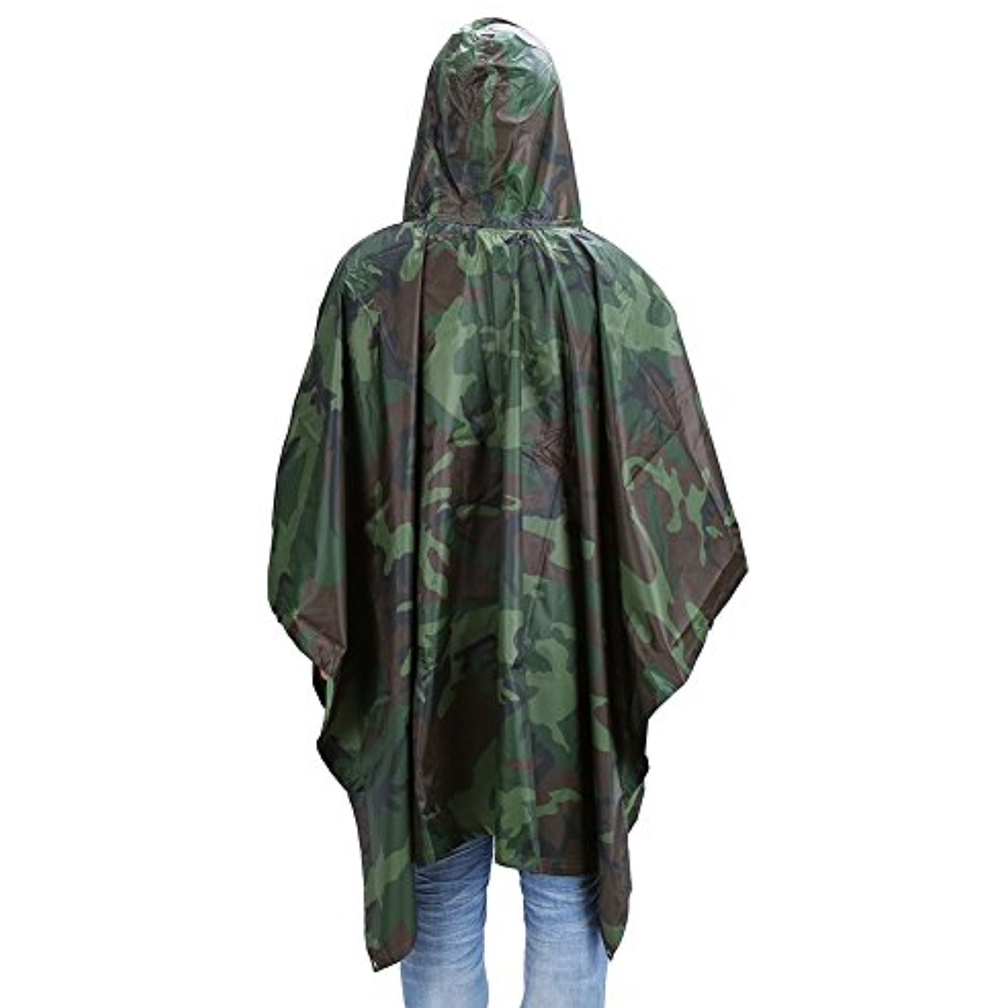 "Multi-Use Rain Poncho, 55"" x 90""Waterproof Ripstop Hooded Rainwear Rain Coat Slicker for Adults Hunting... by"
