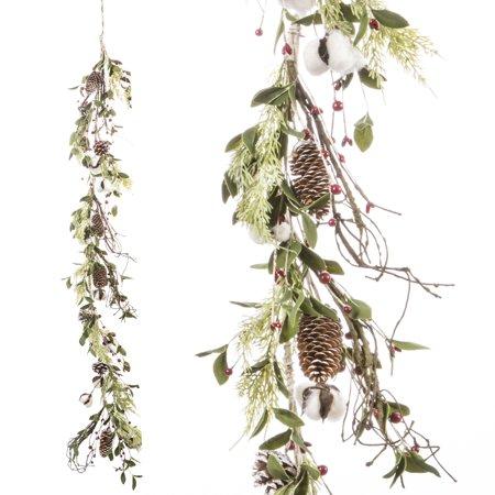 Darice Mixed Cotton Garland 5 Inches x 5 Feet ()