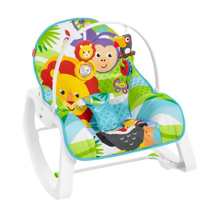 Fisher-Price Infant-To-Toddler Rocker, Green Jungle