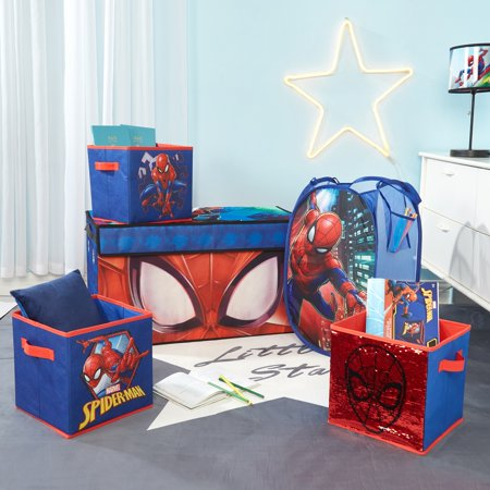 Spider-Man Storage Set (Trunk, 2 pack cubes, Sequin Cube and Hamper) ()