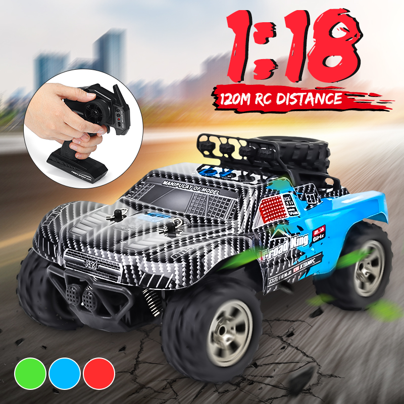 1:18 100M Remote Control 55KM/H RC Car Monster Truck Buggy Rock Crawlers High Speed Off-Road Vehicle Powerful Motor