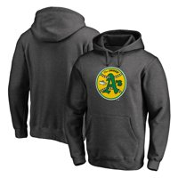 Oakland Athletics Fanatics Branded Cooperstown Collection Huntington Pullover Hoodie - Heathered Gray
