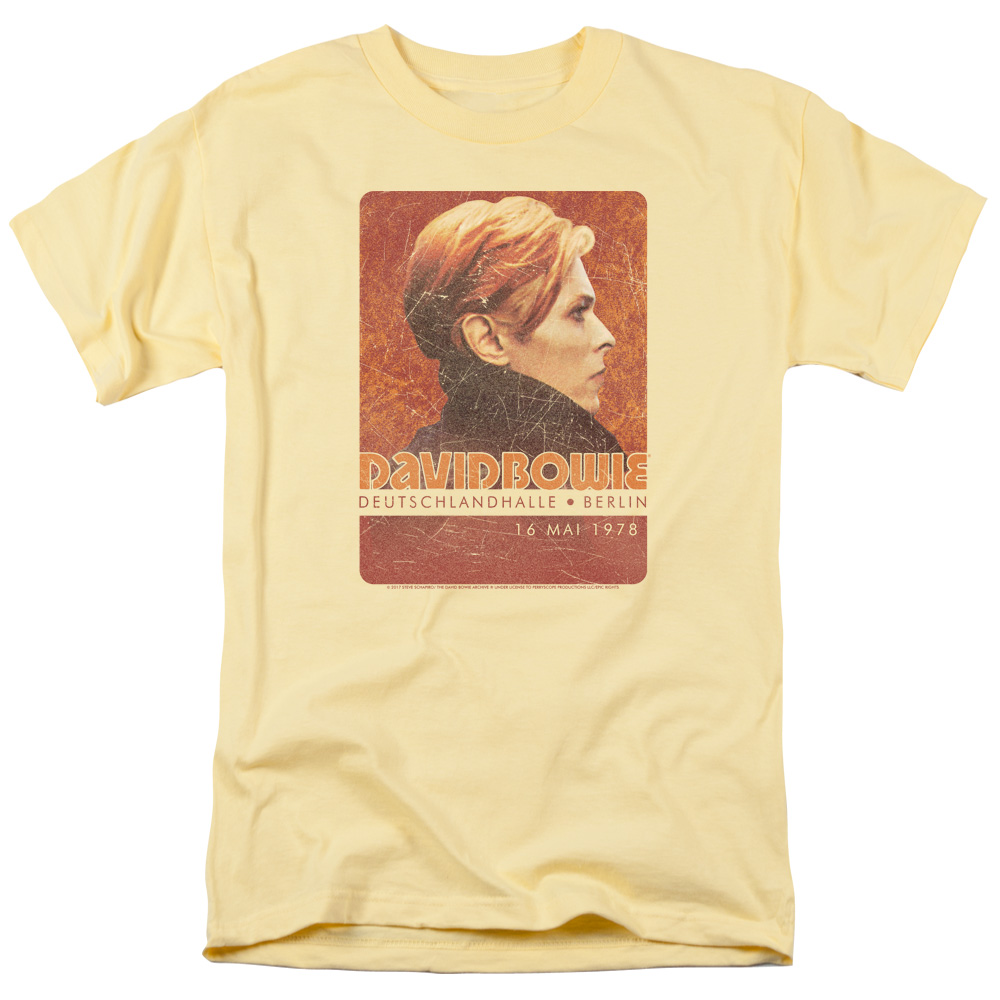 David Bowie Stage Tour Berlin 78 Mens Short Sleeve Shirt