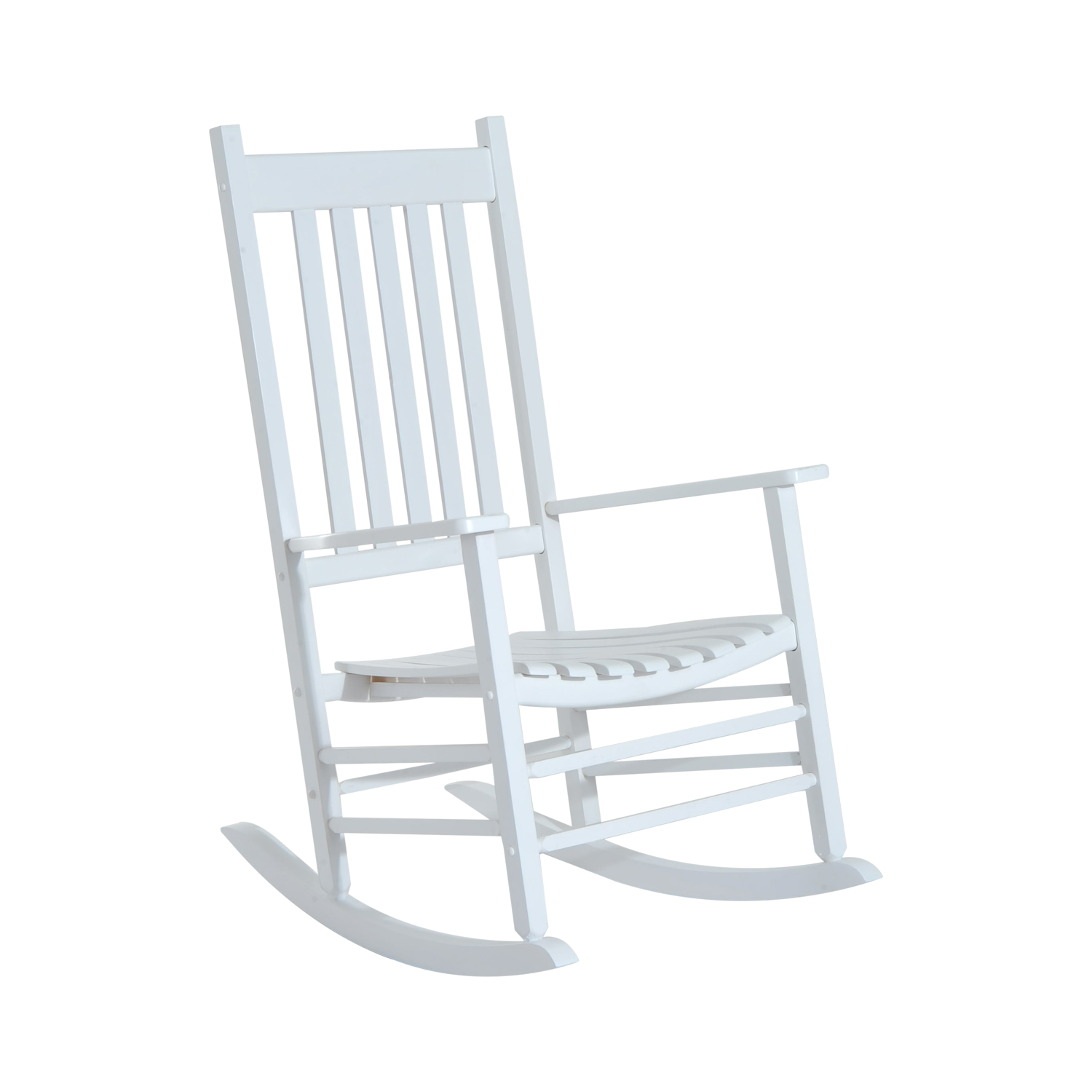 outsunny porch rocking chair outdoor patio wooden rocking chair white