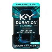 K-Y Duration Gel for Men - Male Genital Desensitizer 0.16 oz (36 Pumps)