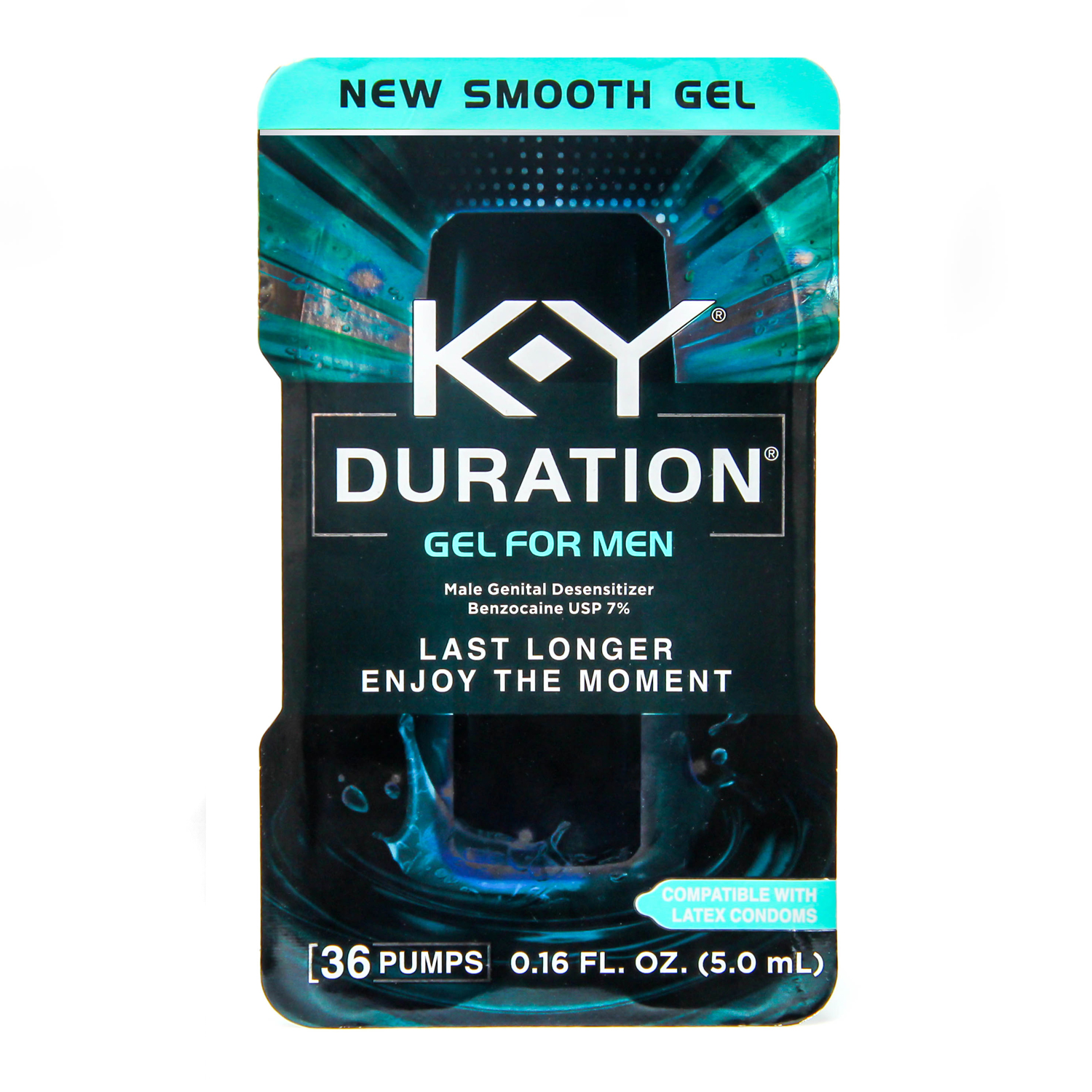 K-Y Duration Gel for Men (Condom Safe) - Last Longer & Enjoy The Moment, 36 pumps, Male Genital Desensitizer 0.16 oz
