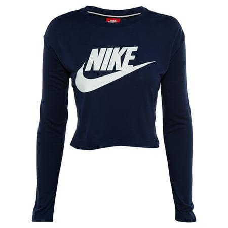 f2239d2ca005e5 Nike Essential Long Sleeve Crop Top Womens Style   856738 - Walmart.com