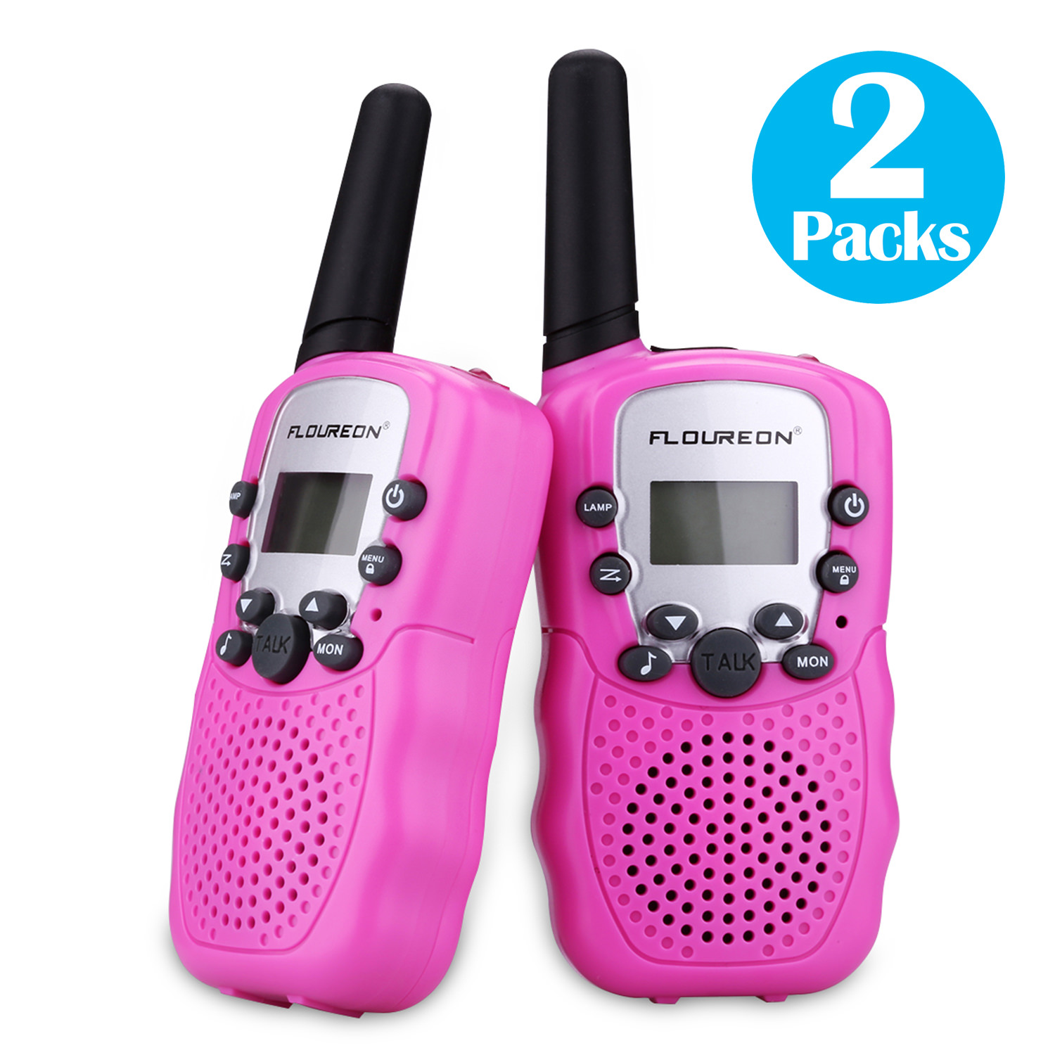 2 x FLOUREON Two Way Radio UHF462-467MHz Walkie Talkie Set 5KM Range Interphone