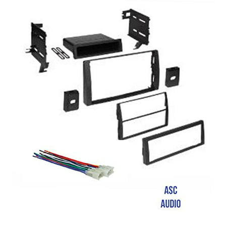 Audi Harness - ASC Audio Car Stereo Dash Kit and Wire Harness for Installing an Aftermarket Radio for some 2002 2003 2004 2005 2006 Toyota Camry
