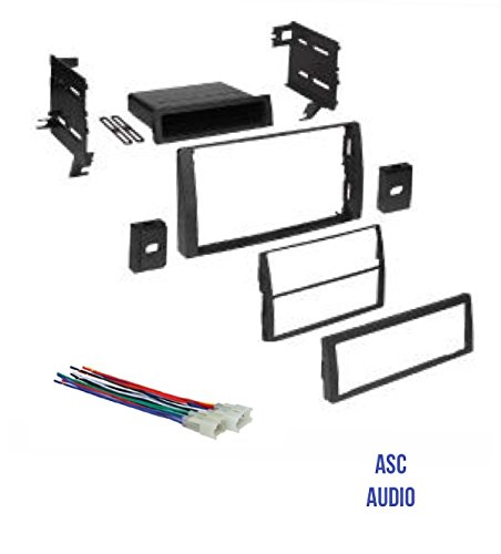 ASC Audio Car Stereo Dash Kit and Wire Harness for Installing an Aftermarket Radio for some 2002 2003 2004 2005 2006 Toyota Camry