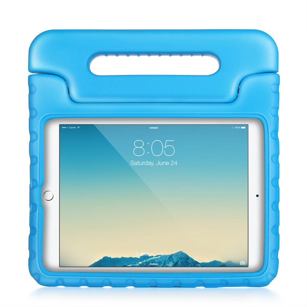 iPad Mini 4 Case - Kids Shock Proof Soft Light Weight Childproof Impact Drop Resistant Protective Stand Cover Case with Handle for iPad Mini 4 (Blue)