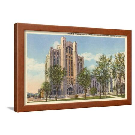 Masonic Temple, Detroit, Michigan Framed Print Wall Art