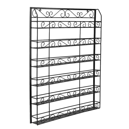 Square 6 Tiers Nail Polish Wall Mount Rack Holder Shelf Storage Up To 180 Bottles Salon Exhibition Display Nail Tools - Square Up Store