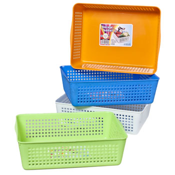 Rectangular Slotted Plastic Baskets Rectangular Slotted Plastic Baskets