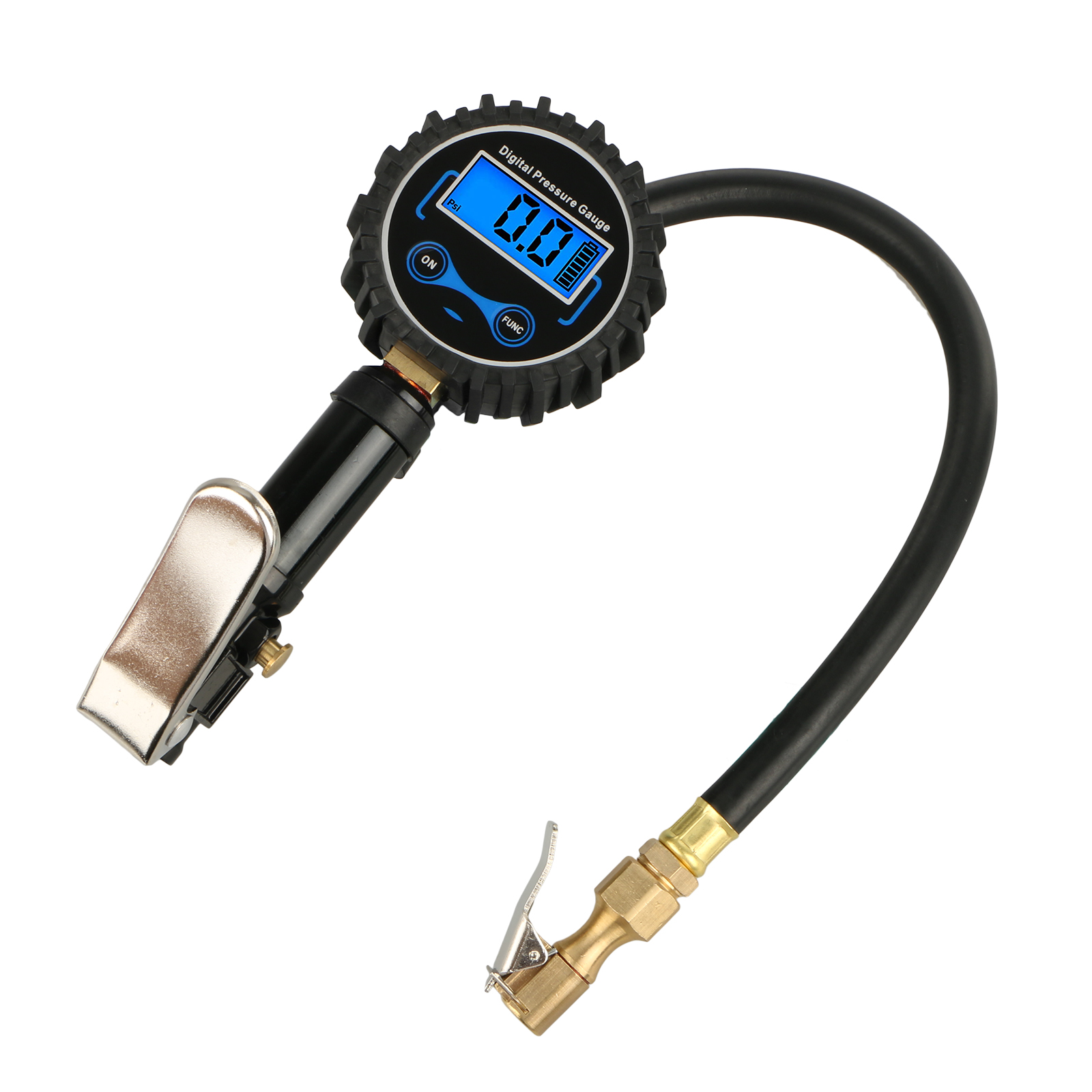 Digital Tire Inflator with Pressure Gauge for All Types of Auto, SUV, Trucks, Motorcycles and Bikes