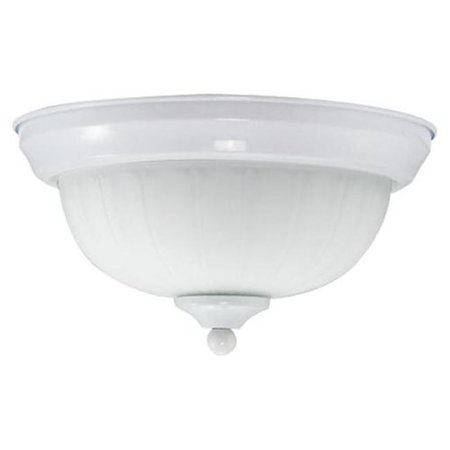 Efficient Lighting EL-805-123-W Classical Flushmount  Powder Coated White Finish with Alabaster Glass  Energy Star