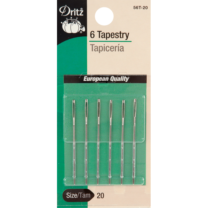 Dritz 5-Piece Tapestry Hand Needles, Size 16 Multi-Colored