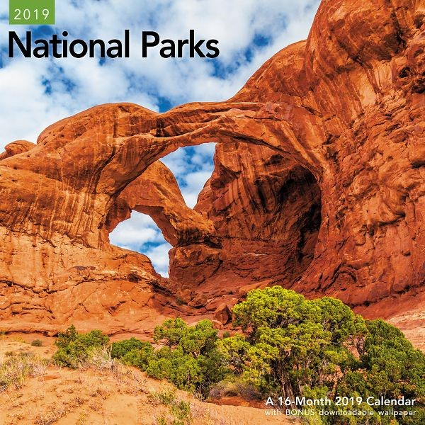 """Mead® National Parks 2019 Monthly Wall Calendar, 12"""" x 12"""""""