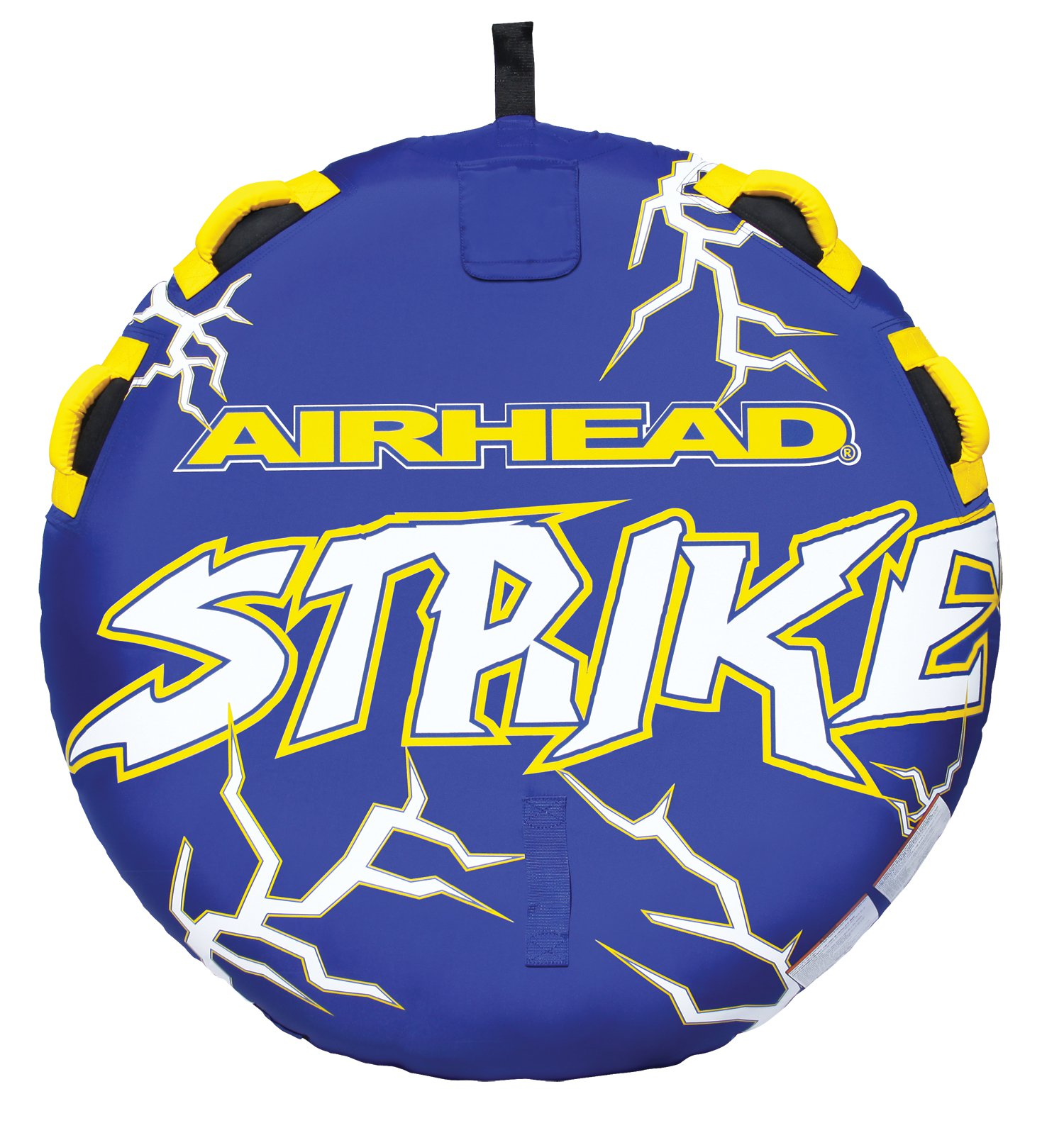Airhead Strike 2 Single Rider Inflatable Towable Lake Water Deck Tube | AHST-23