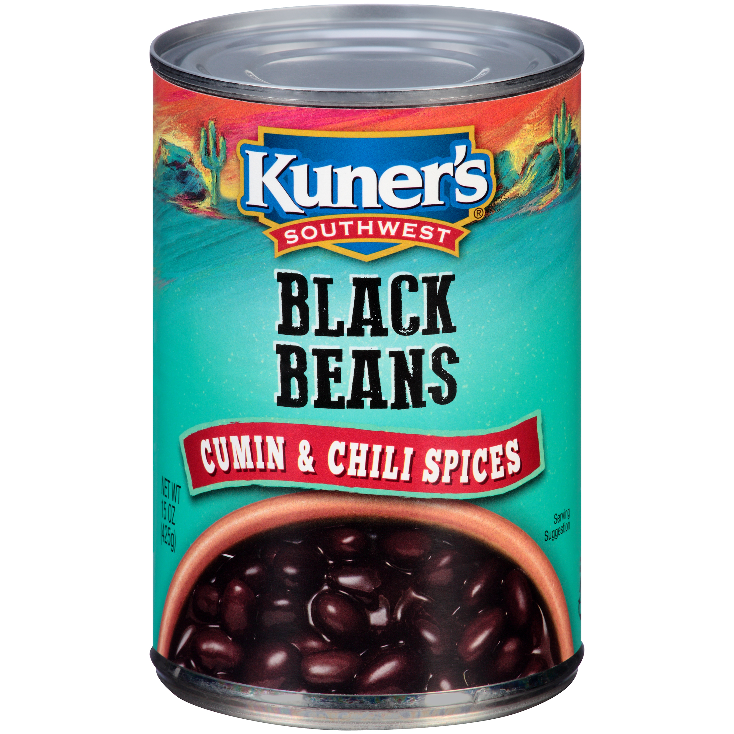 Kuner's�� Southwest Black Beans with Cumin & Chili Spices 15 oz. Can