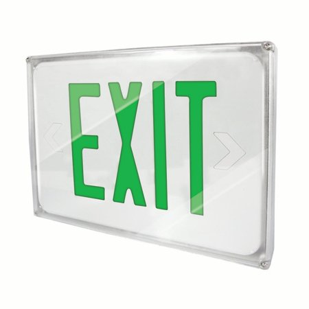 Fully Automatic Operation (eTopLighting LED Exit Sign Emergency Light, Green Letter, Battery Back-up, Fully Automatic Operation, Ceiling or Wall Mounting, Side Mounting, WMLS4368 )
