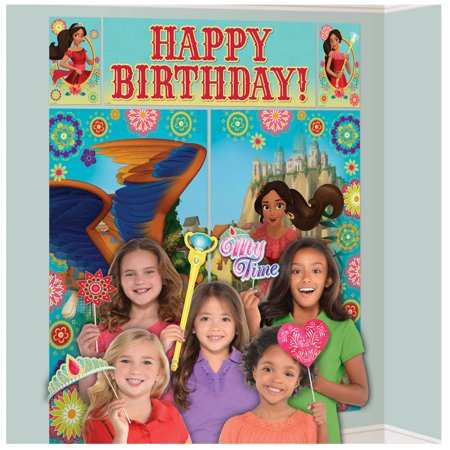 Elena of Avalor Scene Setter with Photo Booth Props (Jungle Scene Setter)