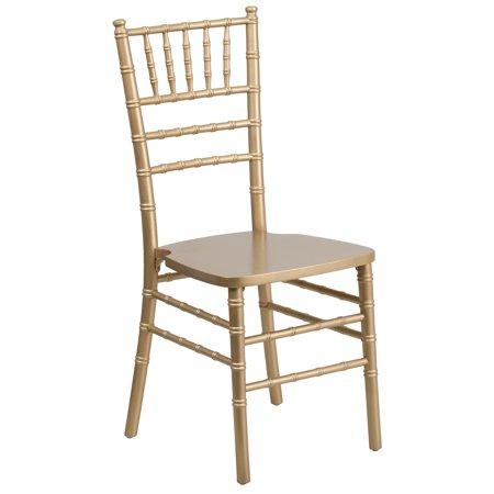 A Line Furniture Paradise Wood Chiavari Ball Room Gold Chairs ()