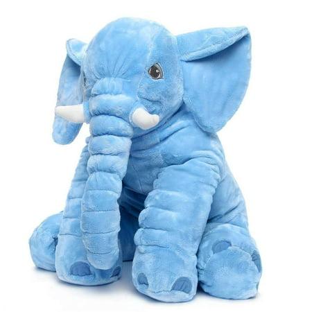 Blue 60cm Cute Animal Pillow Elephant Children Soft Plush Toy Doll