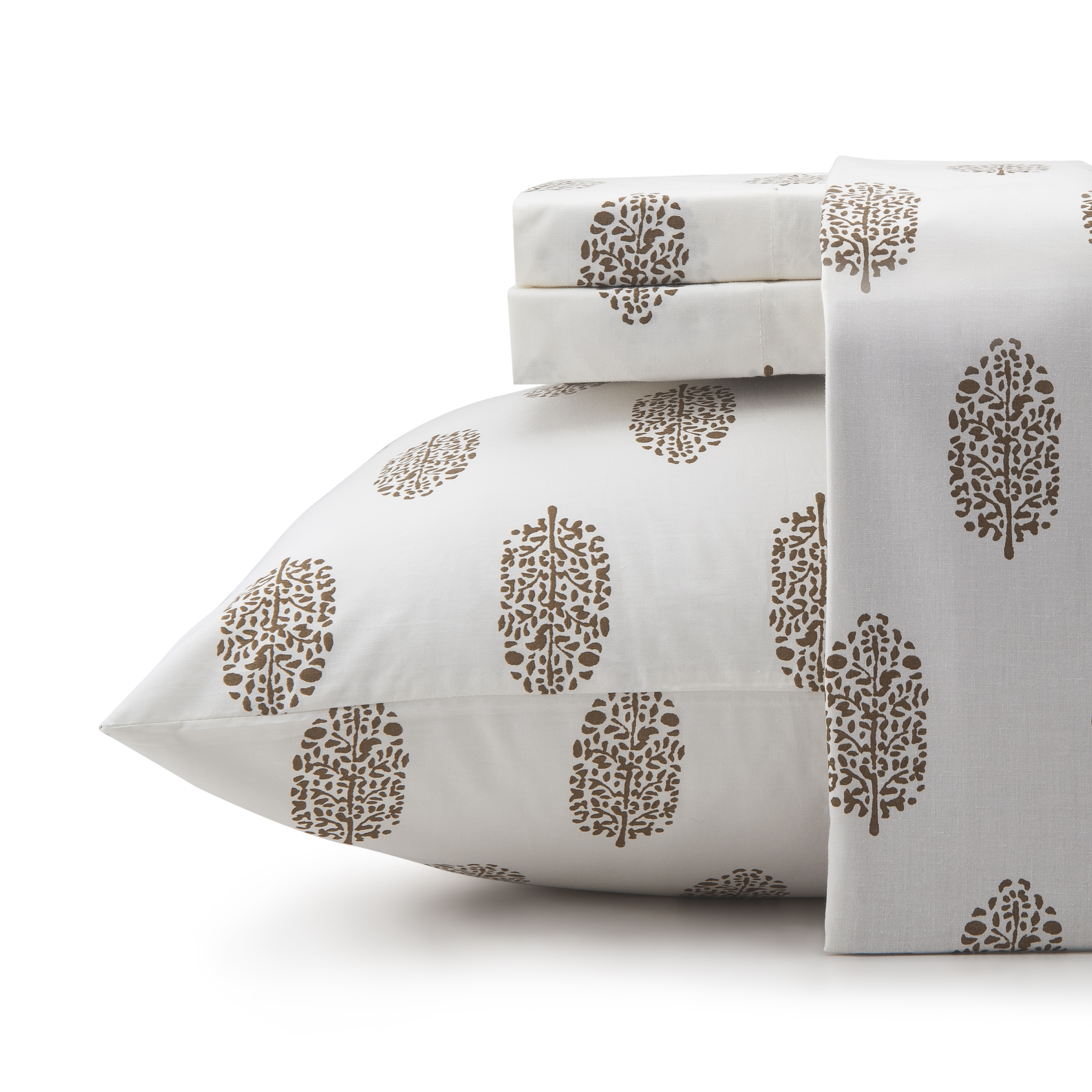 Vani 200 Thread Count Cotton Sheets, 4 Piece Cotton Full Bed Sheets Set,