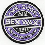 "Mr. Zoggs SEX WAX STICKER 7"" CIRCULAR PURPLE"