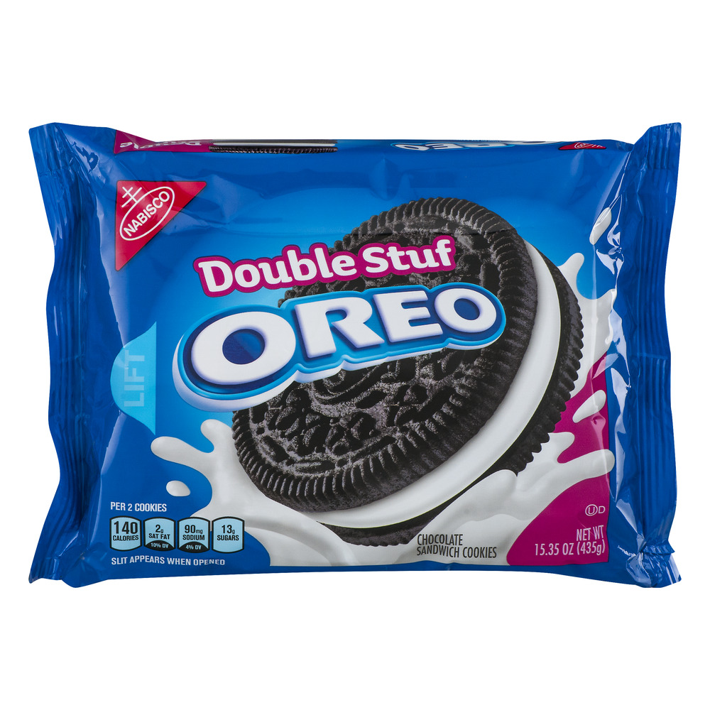 Oreo Chocolate Sandwich Cookies Double Stuf, 15.35 OZ