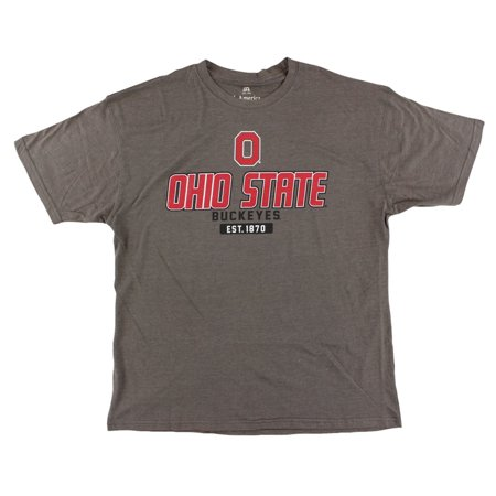 J america mens ohio state university buckeyes stacked for Ohio state shirts mens