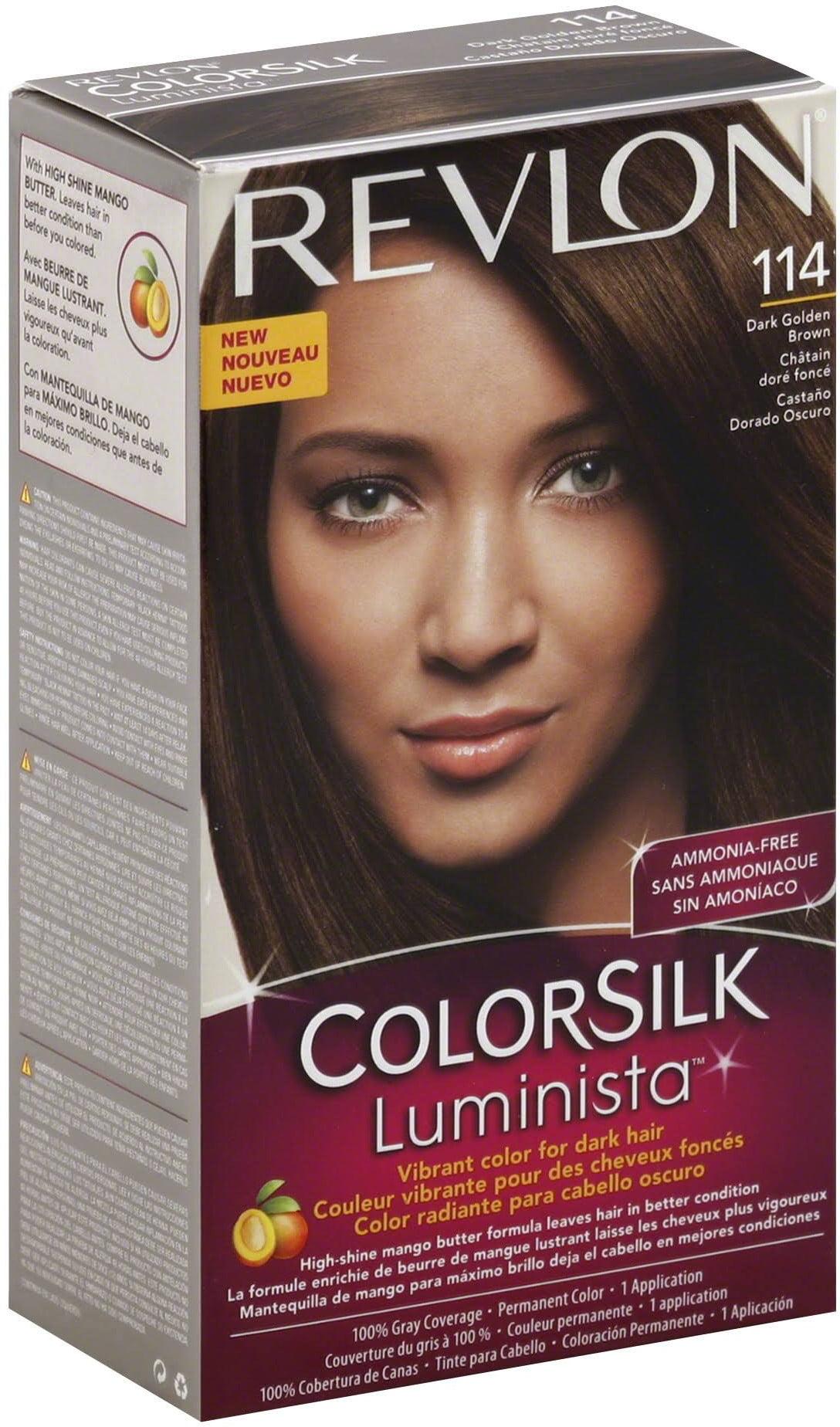 Revlon Colorsilk Luminista Hair Color 114 Dark Golden Brown 1 Ea Pack Of 6