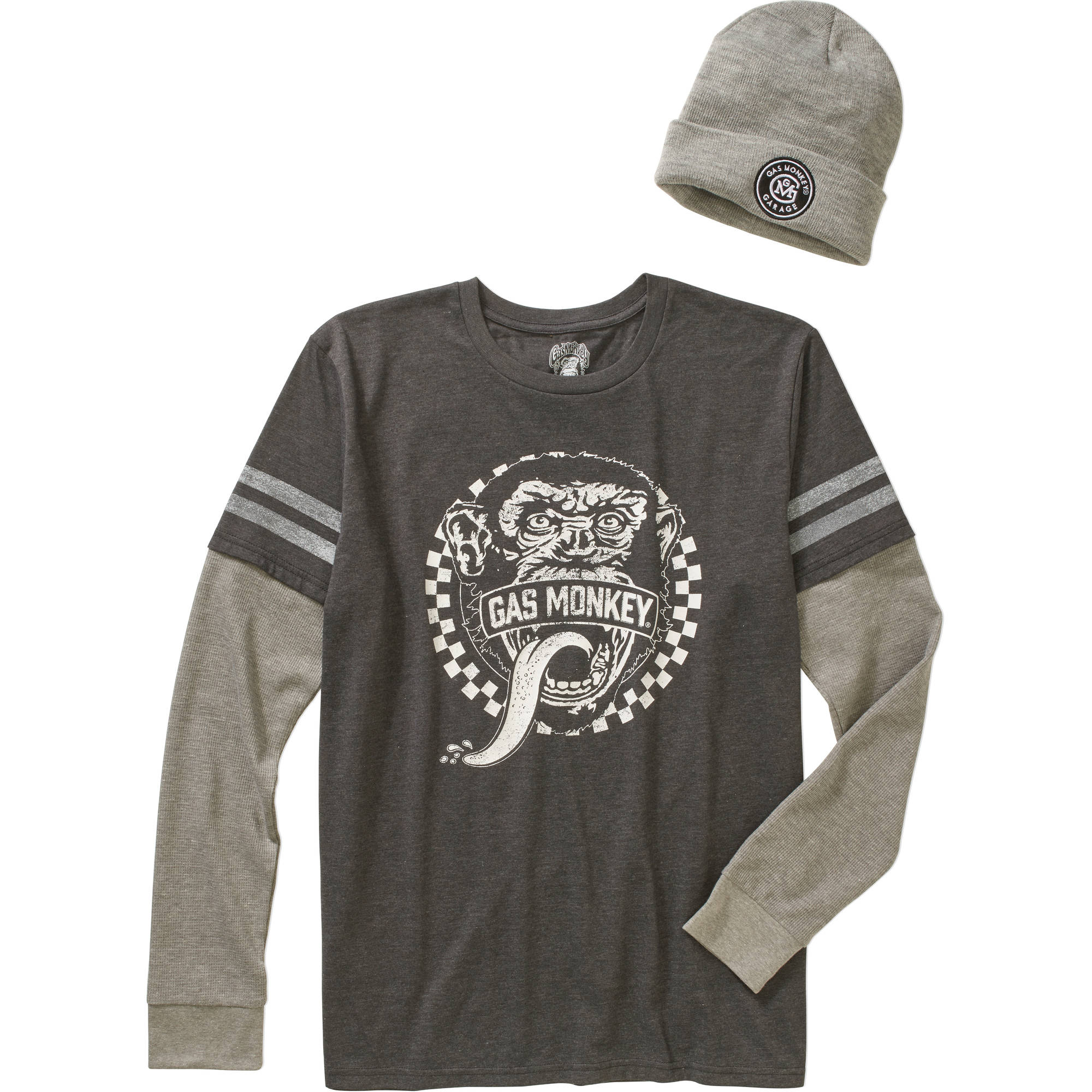 Gas Monkey Men's Shirt & Beanie Combo