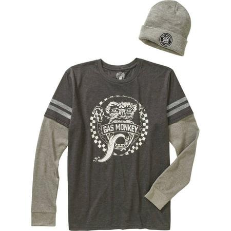 ab9d2e62781 Automotive - Gas Monkey Men s Shirt   Beanie Combo - Walmart.com