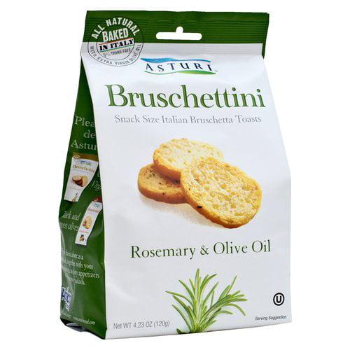 Asturi Bruschettini Rosemary & Olive Oil Bruschetta Toasts, 4.23 oz