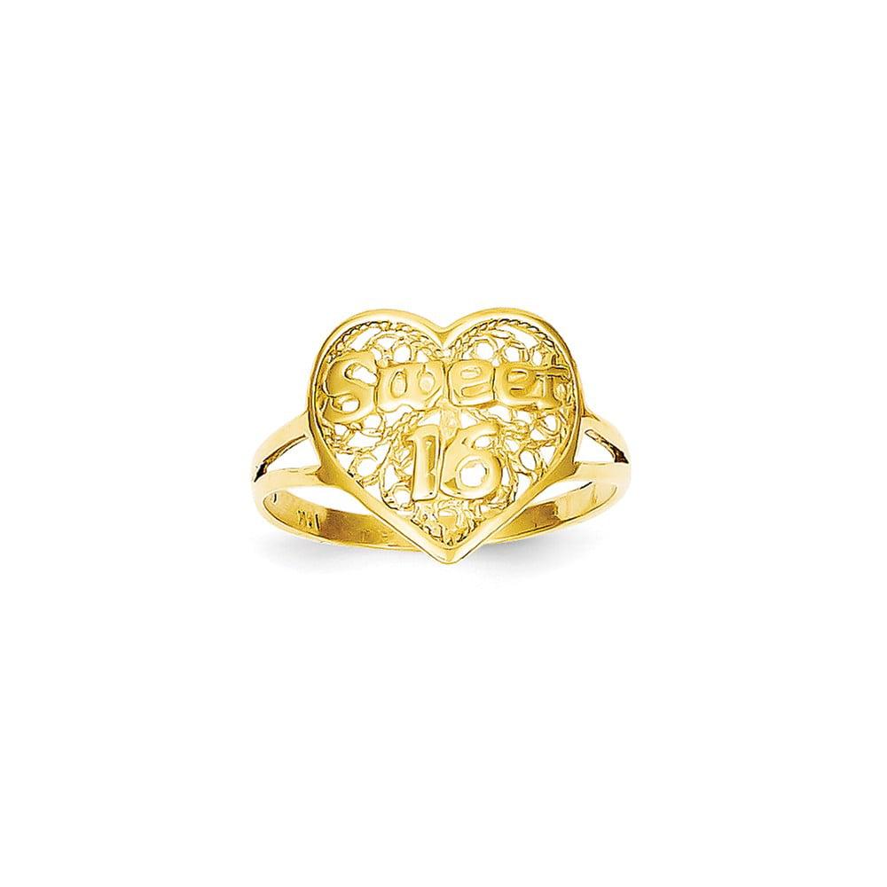 14k yellow gold sweet 16 ring walmart
