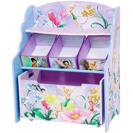Disney - Tinker Bell Fairies 3-Tier Toy Organizer with Rollout Toy Box -  Walmart.com - Disney - Tinker Bell Fairies 3-Tier Toy Organizer With Rollout Toy