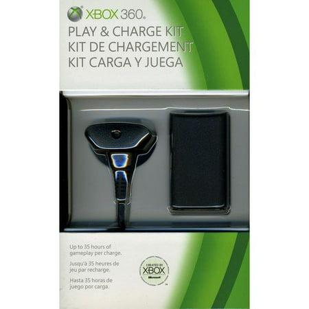 Microsoft Xbox 360 Play & Charge Kit (Xbox 360) - Walmart.com