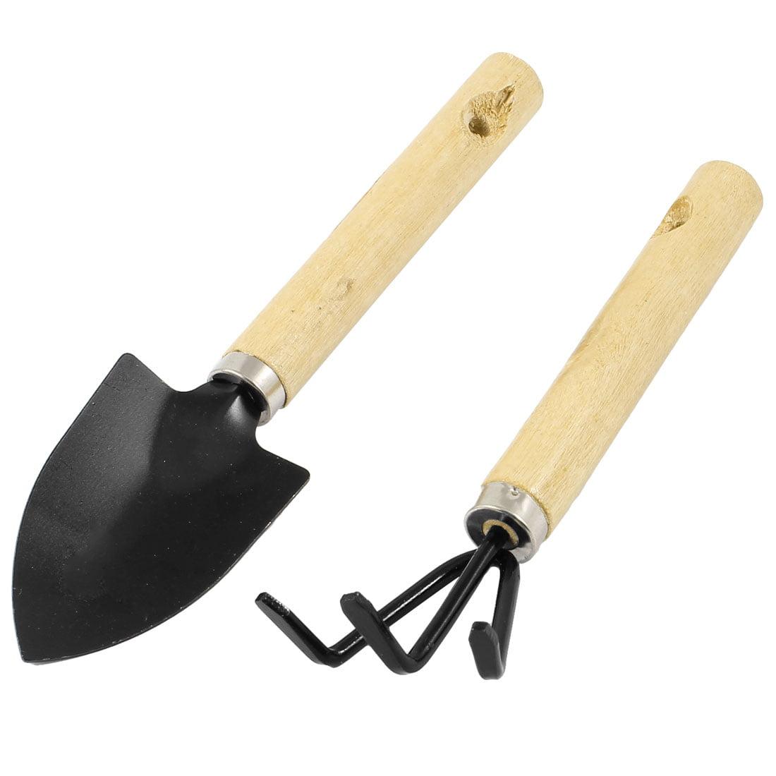Unique Bargains 2pcs Metal Garden Hand Tools Set Cultivator Digging Trowel Shovel by