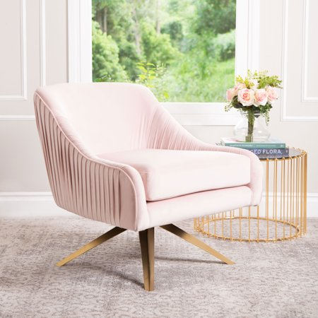 Miraculous Devon Claire Gia Velvet Swivel Chair Blush Pink Dailytribune Chair Design For Home Dailytribuneorg