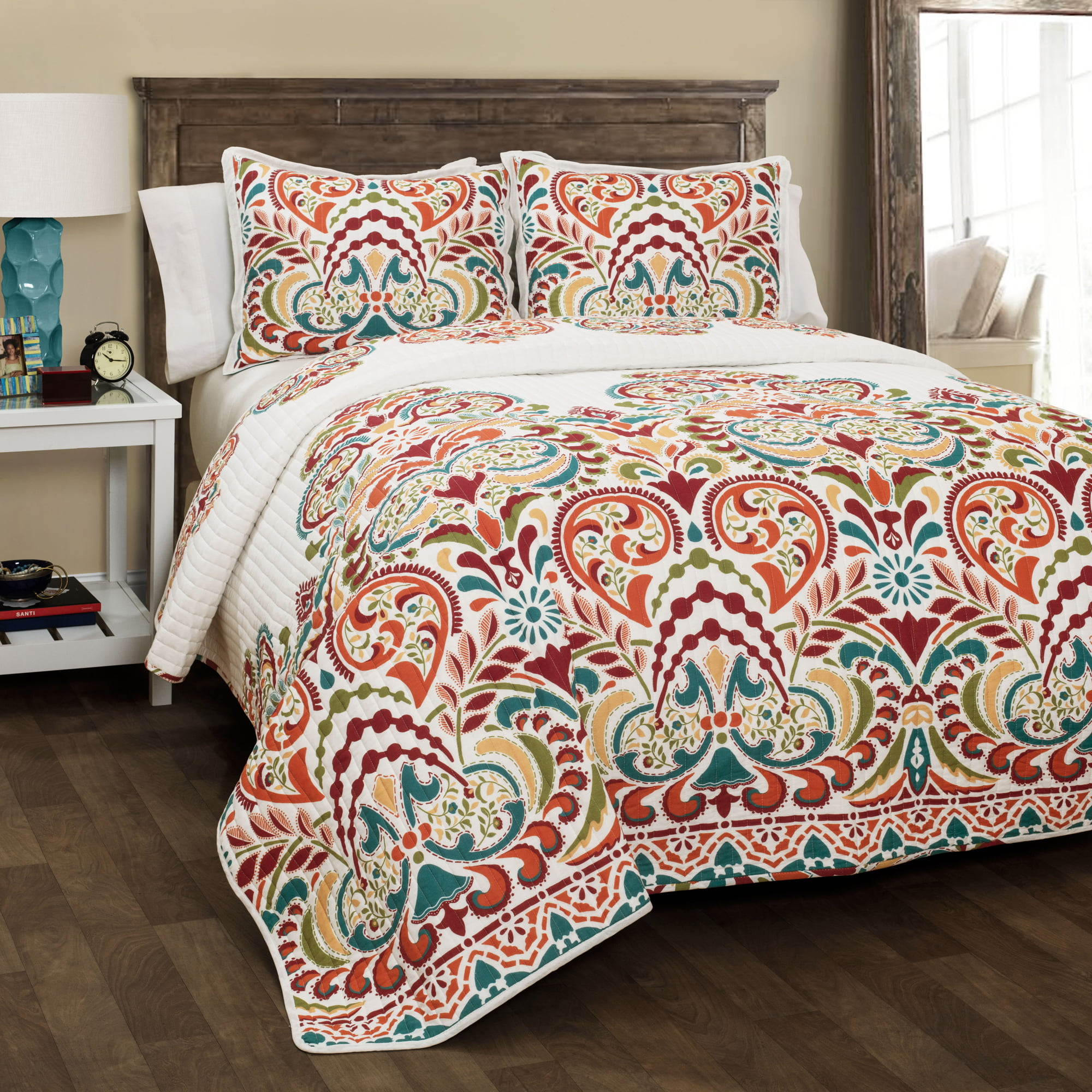 Clara 3-Piece Quilt Set by Triangle Home Fashions
